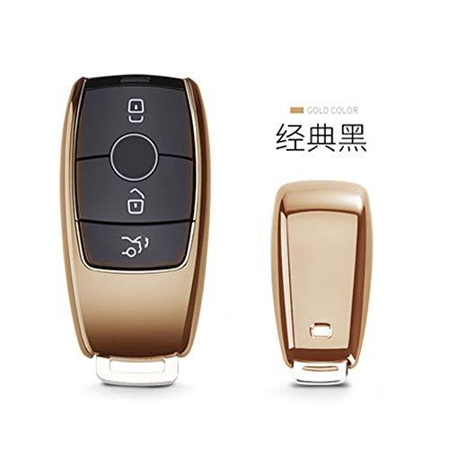 SUNQQB TPU autoschlüssel Abdeckung case Shell Tasche Schutz weich für Mercedes Benz 2017 e klasse w213 2018 s klasse zubehör Auto Styling,Gold