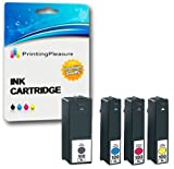 4 (FULL SET) Compatible 100XL Ink Cartridges for Lexmark S300 S301 S302 S305 S308 S402 S405 S408 S409 S502 S505 S508 S601 S602 S605 S606 S608 S815 S816 Pro202 Pro205 Pro208 Pro209 Pro701 Pro702 Pro703 Pro705 Pro706 Pro803 Pro805 Pro808 Pro901 Pro902 Pro903 Pro904 Pro905 Pro909 - Black/Cyan/Magenta/Yellow, High Capacity