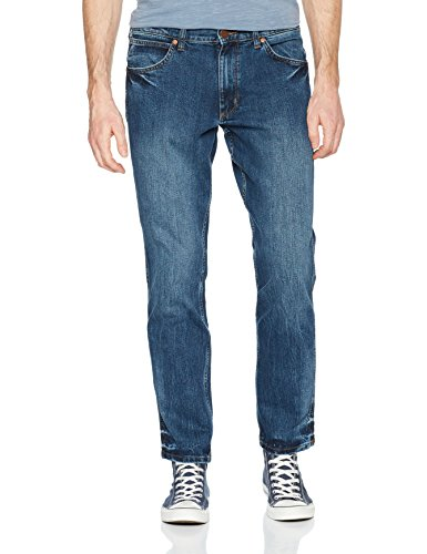 Wrangler Herren Straight Jeans Greensboro Blau (Good Thing 10U)