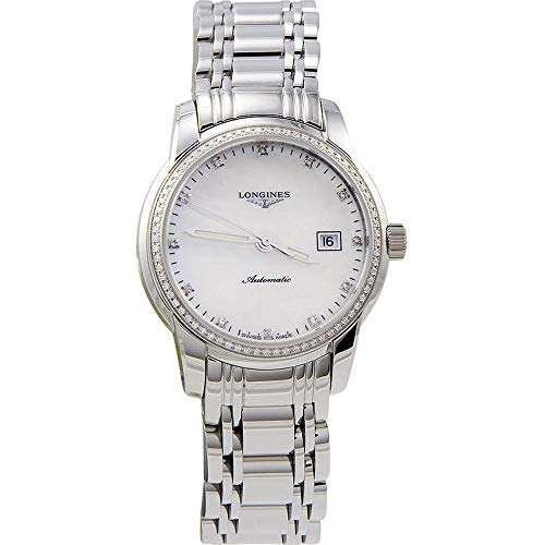 Longines Women's Steel Bracelet & Case Automatic MOP Dial Analog Watch L25630876