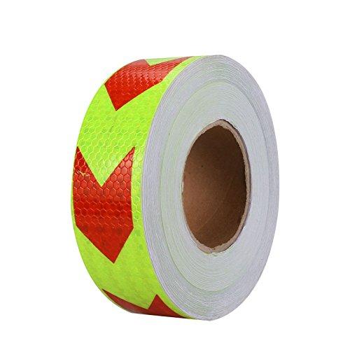 PVC-Reflektierendes Klebeband, mit 9,8ftx2Conspicuity Pfeil Aufkleber Wrap Film-Anhänger für Autos, Trucks RVS Wohnmobile Boote mailboxes