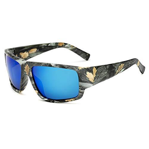 CQYYDD Sonnenbrille Mode Männer Polarisierte Sonnenbrille Fahren Sonnenbrille Camo Square Goggle Stil Schatten Eyewear UV400 04