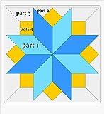 Patrón y Plantillas para Patchwork - Bloque Silesian Star 5 Pulgadas