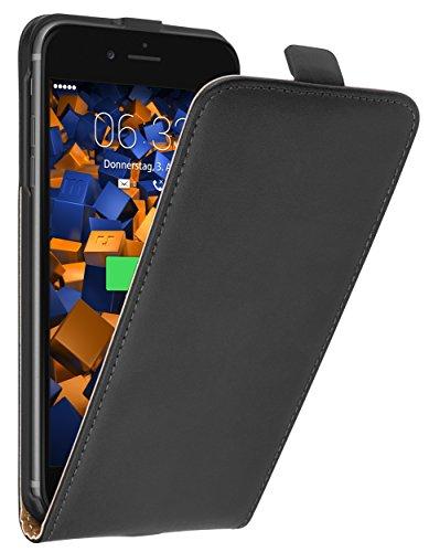 mumbi PREMIUM Leder Flip Case für iPhone 8 Plus / 7 Plus Tasche Premium Flip Case