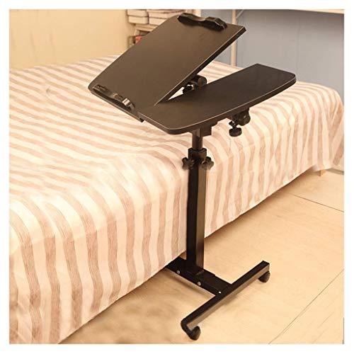 Glas-büro, Konsole-tabelle (ELYSYSRL Couchtische Nachttisch Einfacher Laptop-Schreibtisch Konfigurierbar Mobile Heben Konsole Sofa Beistelltisch Kaffeetisch-Schwarz-25.2X15.75Zoll)