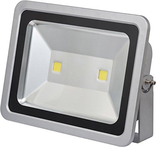 Brennenstuhl Chip-LED-Leuchte / LED Strahler außen (robuster Außenstrahler 150 Watt, Baustrahler IP65 geprüft, LED Fluter Tageslicht, 11.700lm) Farbe: silber -