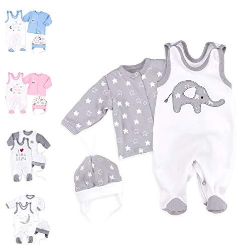 Baby Sweets Baby Set Strampler + Shirt + Mütze Mädchen Jungen Unisex Farbe | Motiv: Kollektion | Babyset 3 Teile für Neugeborene & Kleinkinder | Größe: 1 Monat (56)