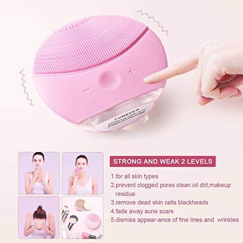 Cepillo de Limpieza Facial,  Masajeador Facial y Dispositivo de Cuidado de la piel Antienvejecimiento Para Todos los Tipos de piel (Rosa)
