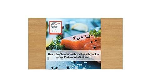 CedarTaste 2er Pack Grillbretter Western Red Cedar Zedernholz Räucherbretter BBQ