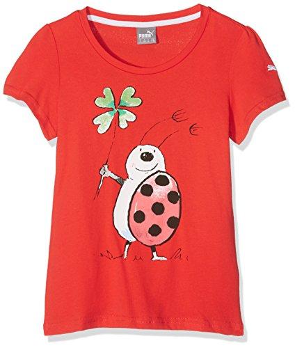 Puma Kinder Tabaluga-Tee T-Shirt, Flame Scarlet, 140 (Kinder T-shirt Scarlet)