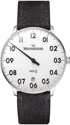 MeisterSinger Herrenuhr Einzeigeruhr mit Zusatzfunktion Neo Q NQ901N (Uhr Meistersinger)