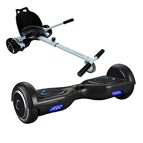 """Pack SmartGyro X2 UL v.3.0 Black más Go Kart - Patinete Eléctrico + Kart Ruedas de 6.5\"""", Certificado UL, Potente Batería de Litio 4.400 mAh, Cómodo y Ergonómico"""