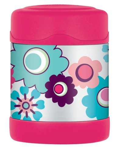 Thermos Isolierbehälter für Lebensmittel 290 ml Blumenmuster pink