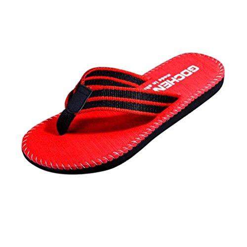 Uomogo® infradito uomo estive pantofole sandali da spiaggia scarpe casual ciabatte piscina (asia 41, rosso)