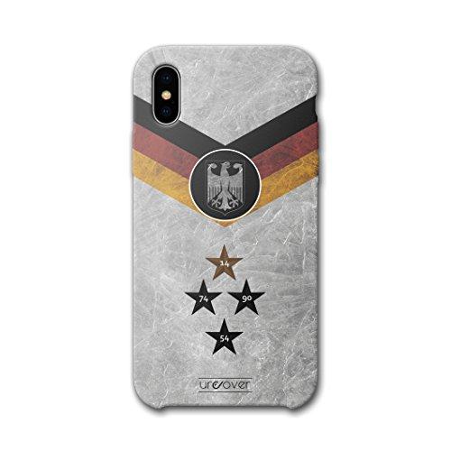 Urcover® Fußball Schutzhülle kompatibel mit Apple iPhone X [Team Deutschland] Fußball Case Flagge Cover