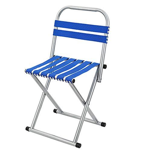 FH Chaise Pliante, Chaise De Pêche Arrière Multifonctionnelle Portative Extérieure, Tabouret De Loisirs Simple, Bleu (Taille : 35 × 30 × 71cm)