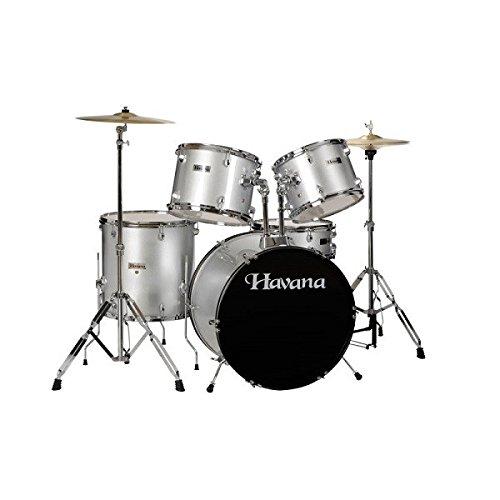Havana HV522 Acoustic Drum Set, 5 Pieces, Red