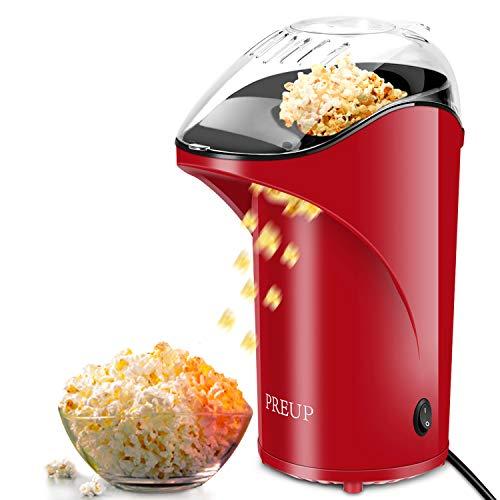Machine à pop-corn 1000W Popcorn Popper automatique sans huile d'une capacité de 1,76oz sans BPA avec couvercle amovible pour la maison et la fête