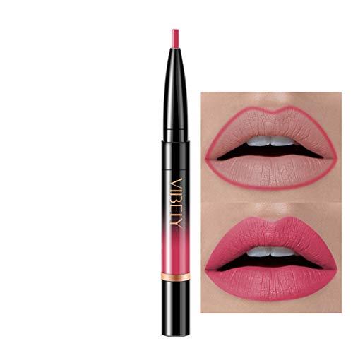 Innerternet Set De CosméTiques De Maquillage De Longue DuréE ImperméAble Crayon-Crayon à LèVres éTanche Double Boutonnage Lipliner ImperméAble 16 Couleurs (D-1)