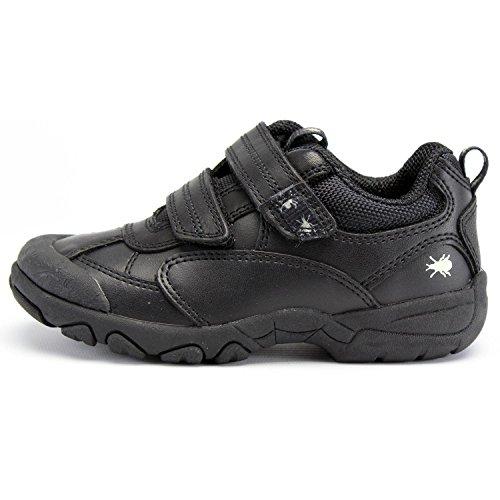 Start-rite Enfants Noir Arachnid Cuir F Width Chaussures Black