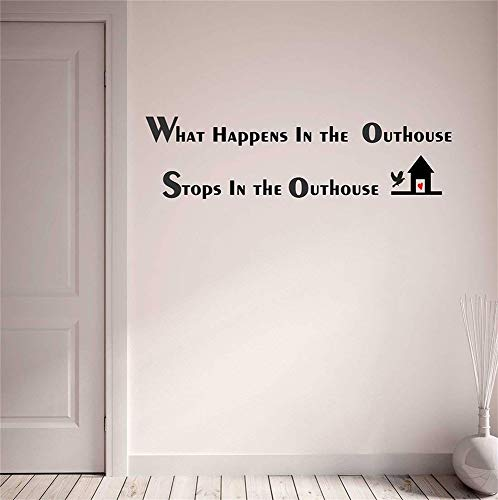Stickers Muraux Miroir Pas Cher What Happens In The Outhouse Stops In The Outhouse For Bedroom Living Room Entryway