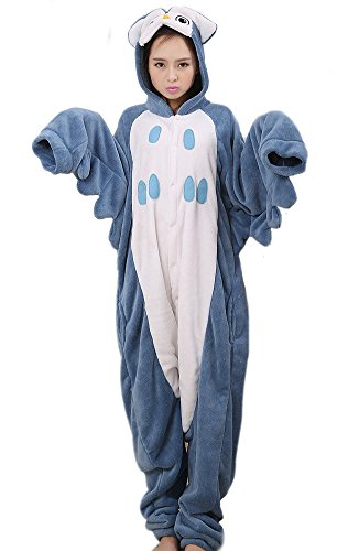 LATH.PIN® Jumpsuit Tier Cartoon Fasching Kostüm Sleepsuit Cosplay Fleece-Overall Pyjama Schlafanzug Erwachsene Unisex Kigurumi Tier (Large, Graun (Kostüme Cartoons)