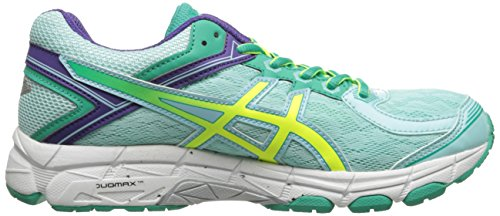 Asics GT-1000 4 Synthétique Chaussure de Course Ice Blue-Flash Yellow-Emerald