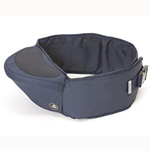 Hippychick Hipseat Baby Carrier - The Easy, No-Fuss Baby Carrier That Takes Care of Your Back - Navy   4