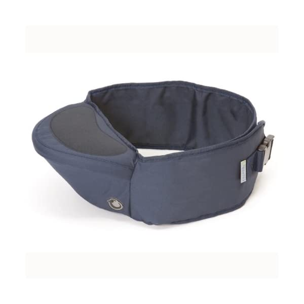 Hippychick Hipseat Baby Carrier - The Easy, No-Fuss Baby Carrier That Takes Care of Your Back - Navy Hippychick EASILY CARRY YOUR PRECIOUS BABY or toddler without strain or discomfort and meet the all-important need of your child to be carried close to you. No need to figure out how to get baby and you comfortable or where all the straps go. The wide waistband provides comfort and strong support with no-fuss simplicity. CARRYING YOUR CHILD AGAINST YOUR BODY is Nature's way. The hipseat with its generous, luxuriously padded, back-supporting belt, featuring an integrated, moulded seat, supports the child's weight from underneath ensuring your spine stays straight. Little ones are carried in a way that is comfy and bonding, while your back is protected from short term fatigue and long term damage. ITS EASY HOP-ON/HOP OFF DESIGN and elevated carrying position, makes it invaluable on sightseeing trips, holidays, long walks, crowded cities, festivals and anywhere buggies don't fit. Its back supporting design is perfect for carrying children between 6 month and 3 years. 1