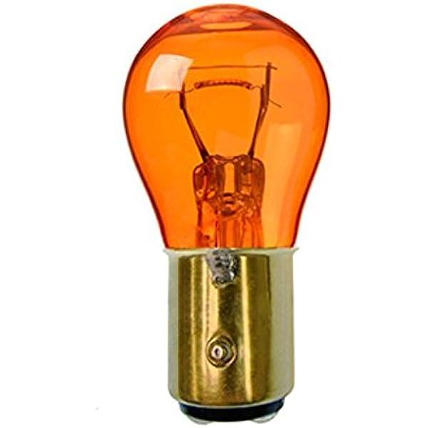 Us Glühlampe Glühbirne Typ 2357 2 Faden Gelb Orange 28 8w 12v Bay15d