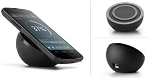 Google Nexus 4 Wireless Charger - Charging Orb - QI INDUCTIVE 5V1A - BLACK