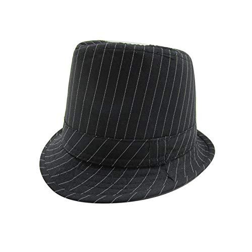 Pop Up Pirat Kostüm - Kinder Jazz Hüte männlich und weiblich Visier Kinder Hüte Baby Hut Visier schwarz und weiß vertikale Barcode