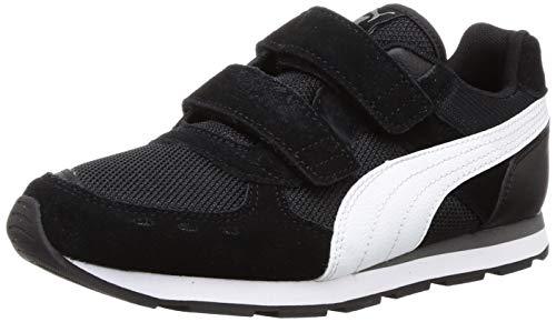 Puma Unisex-Kinder Vista V PS Sneaker, Schwarz (Puma Black-Puma White/01), 31 EU