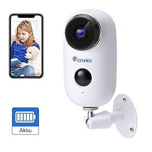 [1080P] Telecamera di Video Sorveglianza Batteria Ricaricabile, Ctronics Wifi Senza Fili Telecamera IP con Sensore di… 41%2BRBHE9jZL. SS300