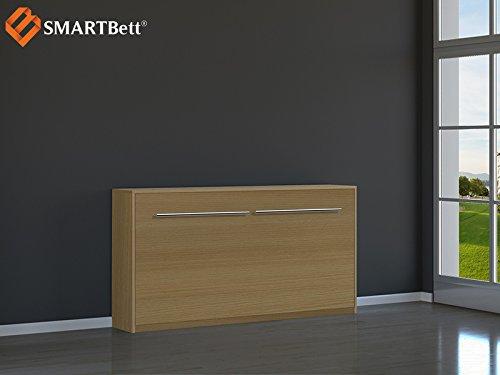 SMARTBett horizontal Klappbett Gästebett Schrankbett , Liegefläche 90x200cm, Buche