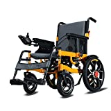 Intelligent Fully Automatic Foldable Disabled Four Rounds Scooter Elderly Aluminum Alloy Lightweight Electric Wheelchair (Right Hand Control) by MAG.AL