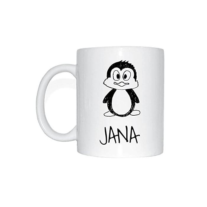JOllipets JANA Namen Geschenk Kaffeetasse Tasse Becher Mug PM5453 1