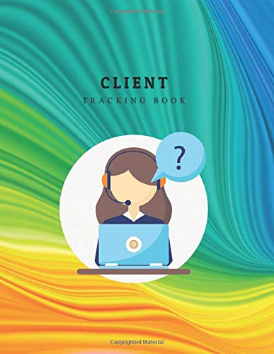 Client Tracking Book: Appointment Logbook Organizer Management and Record Profile Client for Hair, Stylist Salon, Nail and more : Green Orange Color Flow With Lady Call Center Design