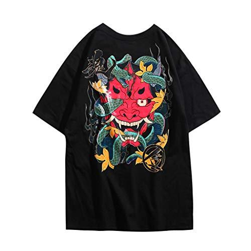 kolila Unisex Hip-Hop T-Shirts Tops Sommer Casual Graffiti Brief Print Streetwear Stil Pullover Tops Tee Herren Damen -
