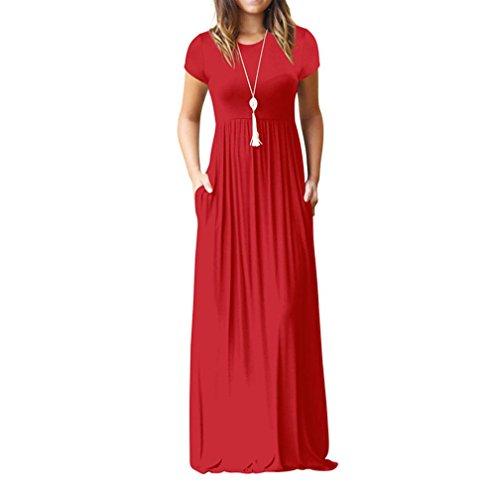JUTOO Frauen O Hals Beiläufige Bodenlangen Kleid Lose Partei Kleid - Mädchen Kleid Bodenlangen Chiffon