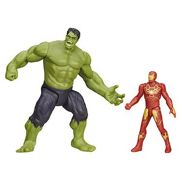 Marvel-Avengers-Age-of-Ultron-Savage-Hulk-und-Ultron-Hunter-Iron-Man-Figuren-UK-Import
