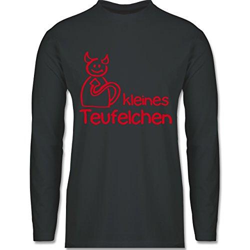 Shirtracer Sprüche - Kleines Teufelchen - Herren Langarmshirt Dunkelgrau