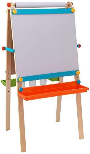 KidKraft 62026 Artist Staffelei aus Holz bunt mit Papierrolle  –  Malset kompatibel mit Stiften, Kreide, Farbe und mehr für Kinder