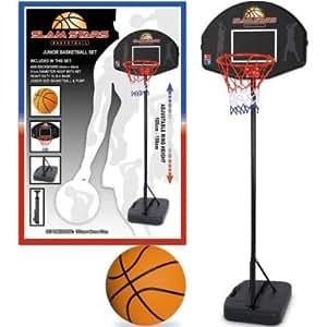 BRAND NEW JUNIOR BASKETBALL SET BASKET BALL BACKGROUND HOOP PUMP FREE STANDING STAND