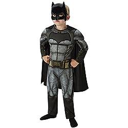 Rubies Batman - Disfraz Batman v Superman para niños, talla M, edad 5-6 años (Altura 116cm / Cintura 53cm)