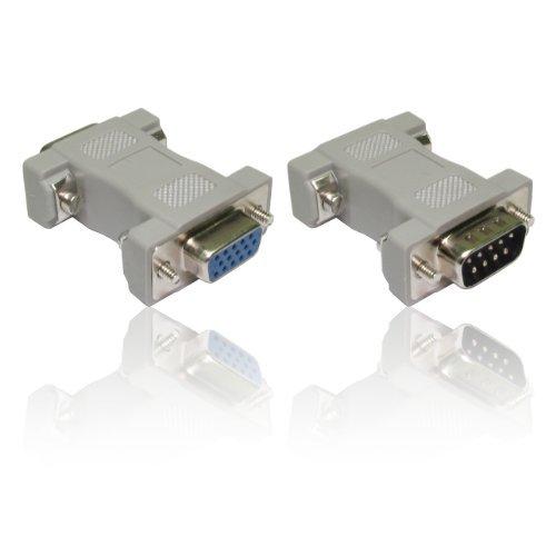 CDL Micro VGA-Adapterkabel, DB9-Stecker auf HD-Buchsemit 15 Pins -