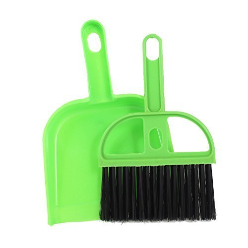 tankerstreet Mini Kehrschaufel Pinsel Tisch Schreibtisch Reinigung Schneebesen Besen Sweeper Handlich von Kehrschaufel Pinsel-Set Office Home Supplies-Grün