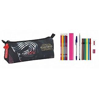 STAR WARS- Estuche portatodo Lleno 17 Piezas (SAFTA 811601708), Color Negro y Rojo, 20 cm (