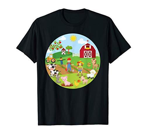 Bauernhof Tier Geburtstag Mama Papa Crew Circle Party Thema T-Shirt (1. Geburtstag Cowboy-thema)