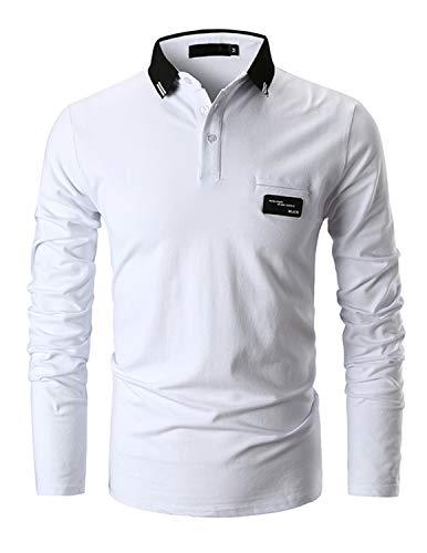 ca4797100119 GHYUGR Poloshirts Herren Basic Langarm Baumwolle Polohemd Golf T-Shirt S-XXL  online kaufen im Bereich